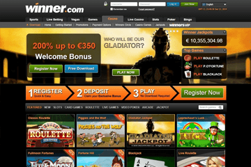Winner Casino Screen 1