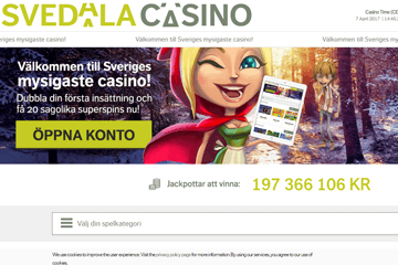 Svedala Casino Screen 1